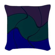 Canton Blue Woven Throw Pillow