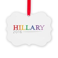 Rainbow Hillary 2016 Picture Ornament