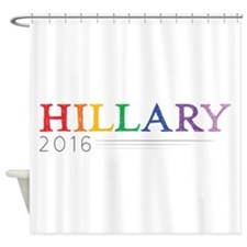 Rainbow Hillary 2016 Shower Curtain
