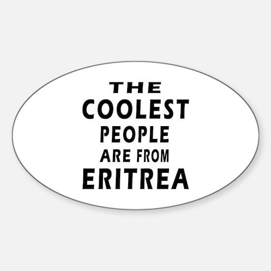 The Coolest Eritrea Designs Sticker (Oval)