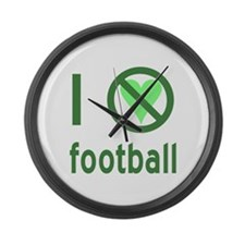 I Hate Football Large Wall Clock