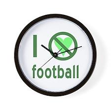 I Hate Football Wall Clock