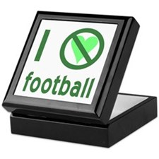 I Hate Football Keepsake Box