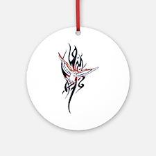 Owl Tribal Tattoo Ornament (Round)