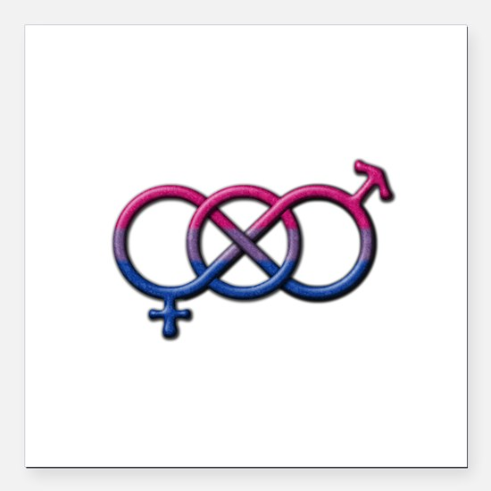 "Bisexual Knot Square Car Magnet 3"" x 3"""