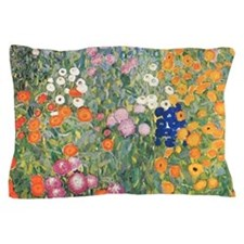 Flower Garden by Klimt Pillow Case