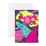 Mod Flowers Greeting Cards (Pk of 10