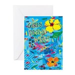 Girls Dream More Greeting Cards (Package