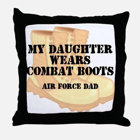AF Dad Daughter DCB Throw Pillow
