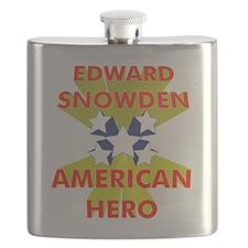 EDWARD SNOWDEN AMERICAN HERO Flask