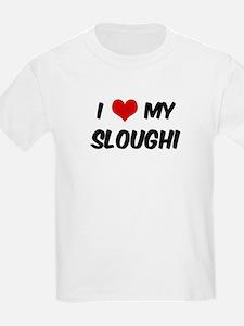 I Love: Sloughi Kids T-Shirt