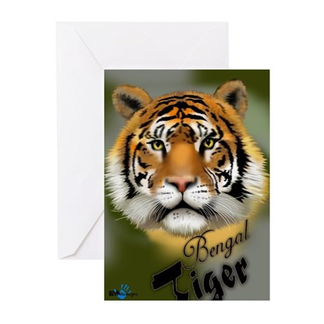 Bengal Tiger Greeting Cards (Package of