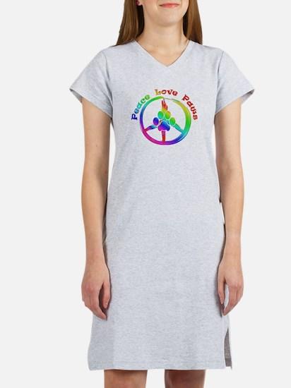 Peace Love Paws Women's Nightshirt
