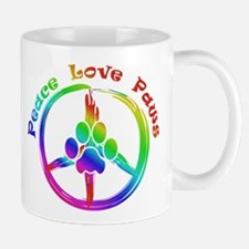 Peace Love Paws Mug