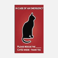 Cat Emergency Sticker Red