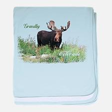 Grandby CO Moose baby blanket