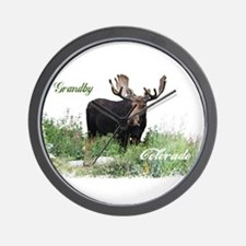 Grandby CO Moose Wall Clock
