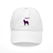 Elkhound / Spitz Plum Baseball Cap