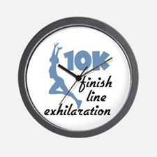 10K Blue Finish Line Wall Clock