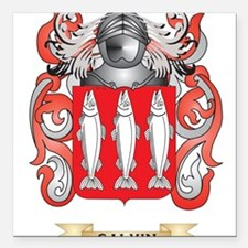 Galvin Coat of Arms (Family Crest) Square Car Magn