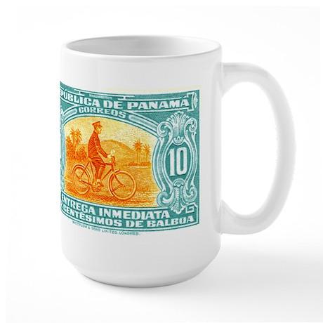 1929 Panama Bicycle Messenger Postage Stamp Mug