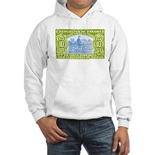 1929 Panama Bicycle Messenger Postage Stamp Hoodie