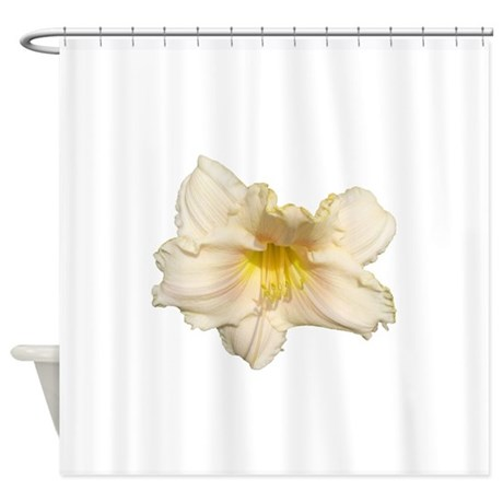 peach daylily shower curtain by annapooldesigns