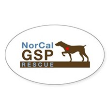 NorCal GSP Rescue Logo Oval Decal