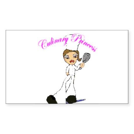 Culinary Princess Rectangle Sticker