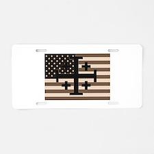 American Crusader Aluminum License Plate