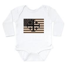 American Crusader Long Sleeve Infant Bodysuit