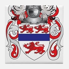 Gannon Coat of Arms (Family Crest) Tile Coaster