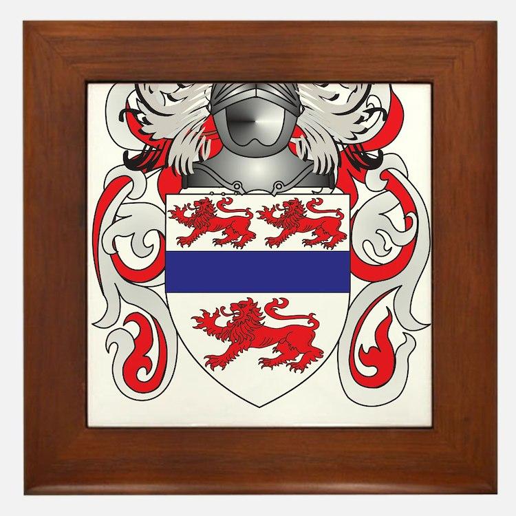 Gannon Coat of Arms (Family Crest) Framed Tile