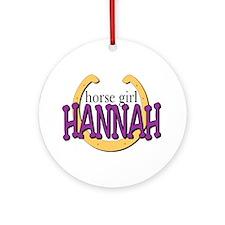 Horse Girl Ornament (Round)