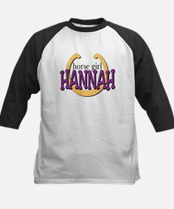 Horse Girl Kids Baseball Jersey