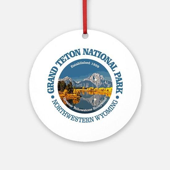 Grand Teton NP Round Ornament