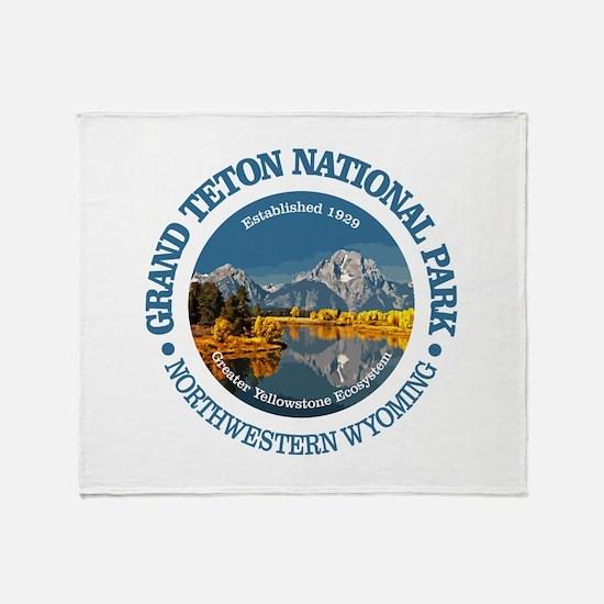 Grand Teton NP Throw Blanket