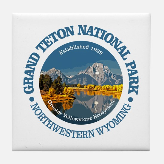 Grand Teton NP Tile Coaster