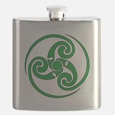 Celtic Spiral Flask