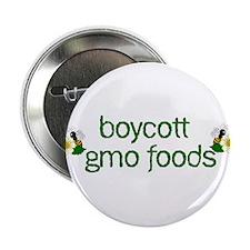 "Boycott GMO Foods 2.25"" Button"
