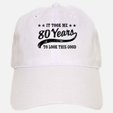 Funny 80th Birthday Baseball Baseball Cap