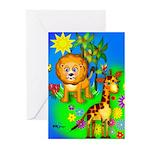 Lion Giraffe Greeting Cards (Pk of 10)