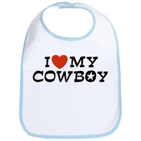 I Love My Cowboy Bib