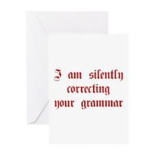 I-am-silently-grammar-plaing-brown Greeting Card