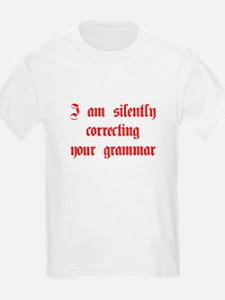 I-am-silently-grammar-plaing-brown T-Shirt