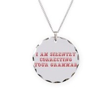 I-am-silently-grammar-max-brown Necklace