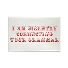 I-am-silently-grammar-max-brown Rectangle Magnet