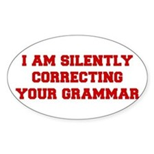 I-am-silently-grammar-fresh-brown Decal