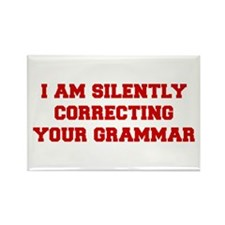 I-am-silently-grammar-fresh-brown Rectangle Magnet