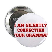 "I-am-silently-grammar-fresh-brown 2.25"" Button"